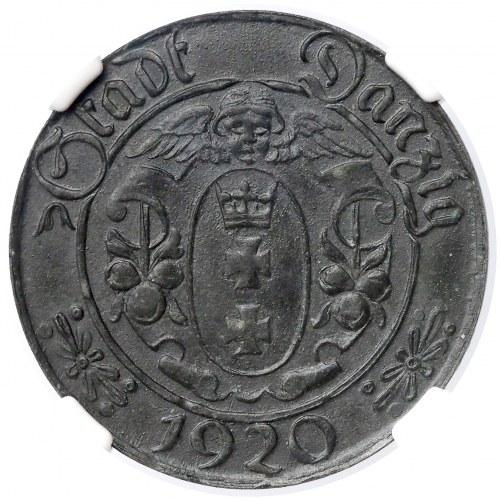 Gdańsk, 10 fenigów 1920 - Stumpf & Sohn - 65 perełek - rzadkość