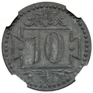 Gdańsk, 10 fenigów 1920 - 56 perełek - typ M.6