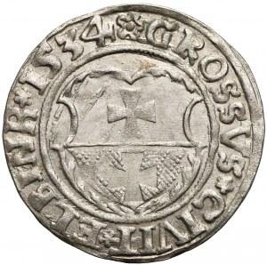 Zygmunt I Stary, Grosz Elbląg 1534 - b. ładny
