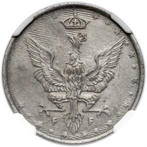 Królestwo Polskie, 10 fenigów 1917 NBO - NGC UNC