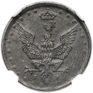 Królestwo Polskie, 5 fenigów 1917 - NGC MS62