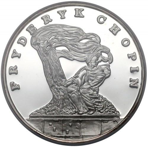 DUŻY Tryptyk 200.000 złotych 1990 Chopin - NGC PF67 UC