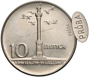 Próba MIEDZIONIKIEL 10 złotych 1965 Kolumna