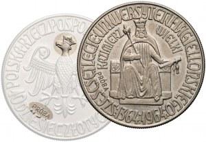 Próba MIEDZIONIKIEL 10 złotych 1964 Kazimierz III Wielki - ORZEŁ w KORONIE