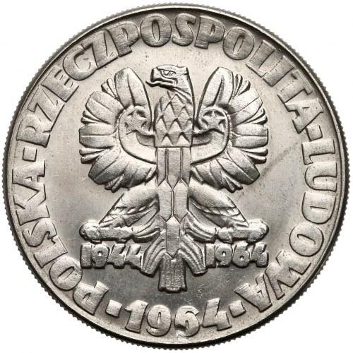 Próba NIKIEL 10 złotych 1964 Klucz, sierp i kielnia