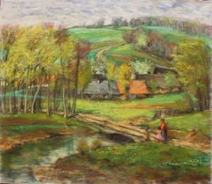 Lucjan Adwentowicz (1902-1937), Pejzaż podgórski