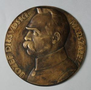 Józef Aumiller (1892-1963), brąz, śr.25 cm
