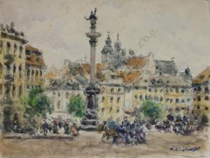 Tadeusz Cieślewski (1870-1956), Warszawa-Plac Zamkowy
