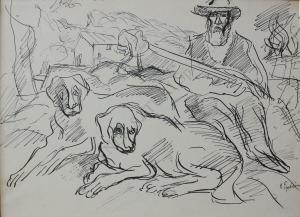 Henryk Epstein (1891-1944), Myśliwy z psami