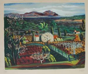 Mojżesz Kisling (1891-1953), Pejzaż z południa Francji