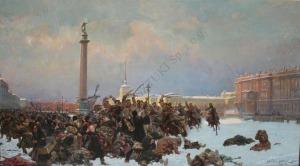 Wojciech Kossak (1856-1942), olej, płótno dublowane, 90x160 cm