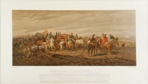 Juliusz KOSSAK (1824-1899) - według, Stanisław Rewera Potocki wracający z wyprawy tureckiej, przyjmuje wyoraną buławę