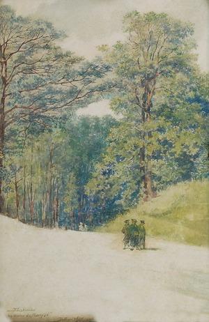 Tadeusz RYBKOWSKI (1848-1926), Truskawiec - na drodze do Marysi, ok. 1910