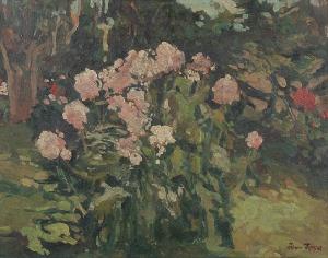 Iwan TRUSZ (1869-1941), Kwiaty w ogrodzie