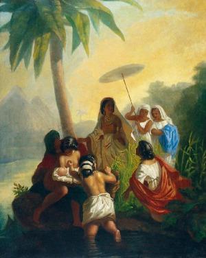 Henryk SIEMIRADZKI (1843-1902), Wyłowienie Mojżesza z nilu, 1864