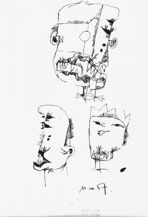 Zdzisław BEKSIŃSKI (1929-2005), Trzy głowy, 1957