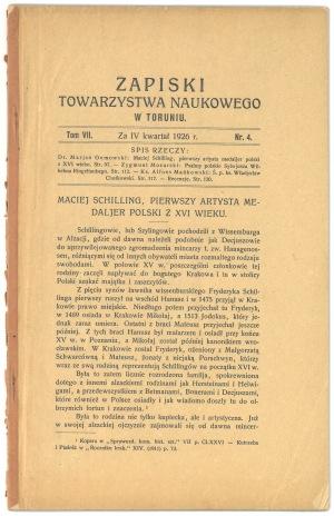 Gumowski Maciej Schilling pierwszy medalier Polski... 1926
