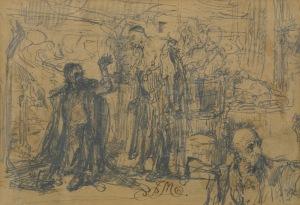 Matejko Jan, ALCHEMIK SĘDZIWÓJ I ZYGMUNT III, OK. 1865