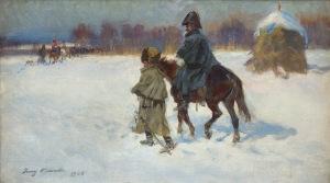 Kossak Jerzy, W ODWROCIE SPOD MOSKWY, 1928