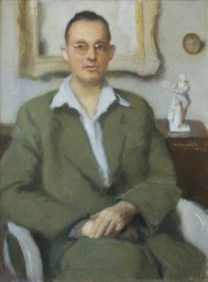Karpiński Alfons, PORTRET MĘŻCZYZNY W OKULARACH, 1952