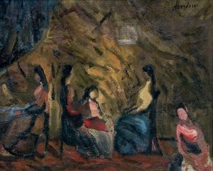 Aberdam Alfred , KOBIETY WE WNĘTRZU, 1937