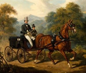 Juliusz Kossak, PRZEJAŻDŻKA POWOZEM, 1852