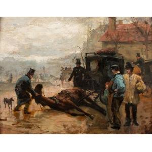 Aleksander Gierymski, SCENA ULICZNA WPARYŻU, ok. 1892