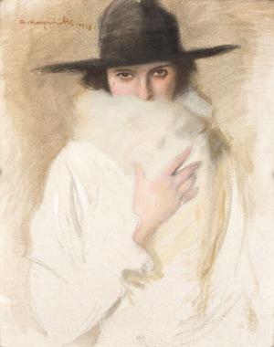 Alfons Karpiński, DAMA WKAPELUSZU, 1918