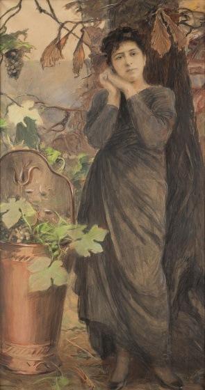 Teodor Axentowicz, PORTRET JESIENNY, 1911