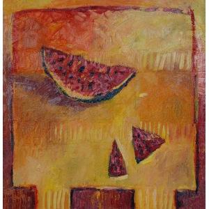 Beata Sękiewicz-Gaudy, 1989, Gorący stół z arbuzem, 2017
