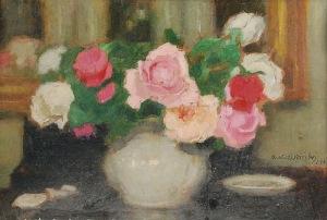 Alfons KARPIŃSKI (1875-1961), Róże - studium z natury, 1942