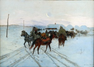 Antoni PIOTROWSKI (1853-1924), Postój, 1887