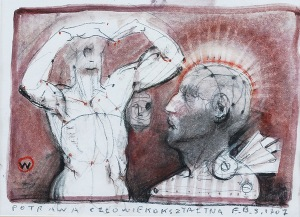 Franciszek STAROWIEYSKI (1930-2009), Potrawa człowiekokształtna, 2007