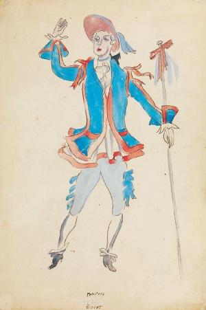 Tadeusz KANTOR (1915-1990), Pasterz - Projekt kostiumu do przedstawienia