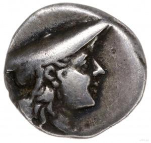 triobol ok. 225-170 pne; Aw: Głowa Aitolii w nakryciu p...