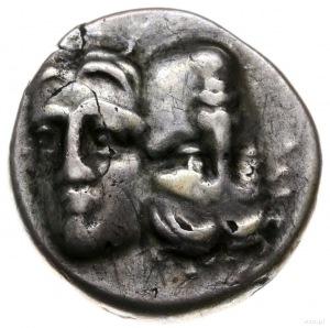 stater (lub didrachma) ok. 400-350 pne; Aw: Dwie głowy ...