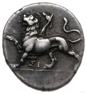 triobol ok. 330-280 pne; Aw: Chimera krocząca w lewo, p...