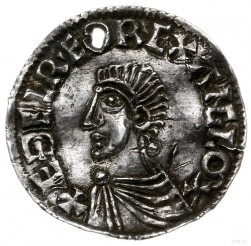 denar typu long cross, 997-1003, mennica Hereford, minc...