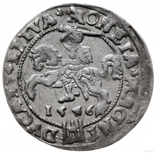 grosz 1546, Wilno; końcówki napisów LIT/LITVA; Ivanausk...