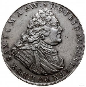 dwutalar 1737, Drezno; Aw: Popiersie w prawo i napis wo...