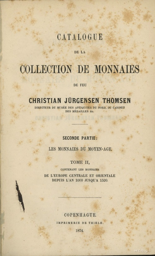 Thomsen, Christian Jürgensen - Catalogue de la Collecti...