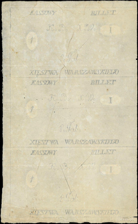papier ze znakami wodnymi do druku 3 x 1 talar Księstwa...
