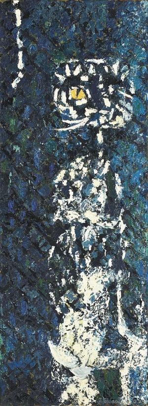 Jerzy Tchórzewski (1928-1999), Kot, [lata 50-te]