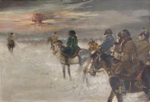 Jerzy Kossak (1886-1955), Odwrót Napoleona spod Moskwy, [1936]