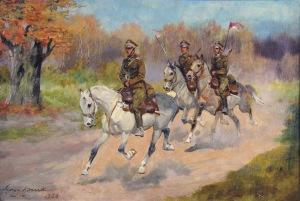 Jerzy Kossak (1886-1955), Ułani na koniach, [1930]