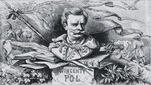 Juliusz Kossak (1824-1899), Wincenty Pol, winieta do Mohorta, [1860]