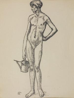 "Wlastimil Hofman (1881-1970), Fragment z tryptyku ""VITA SOMNIUM BREVIS"", [1928]"