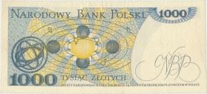 BŁĄD DRUKU 1.000 złotych 1979 - brak warstwy głównej awersu