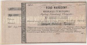 Powstanie Styczniowe, Oblig. tymczasowa 1.000 złotych 1863