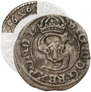 Zygmunt III Waza, Szeląg Wilno 1626 - odwrócone 2 w dacie - rzadki